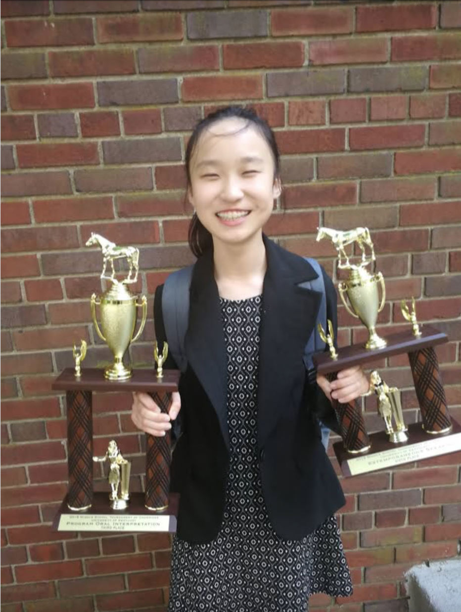 christina: 3rd place poi & 4th place extemp