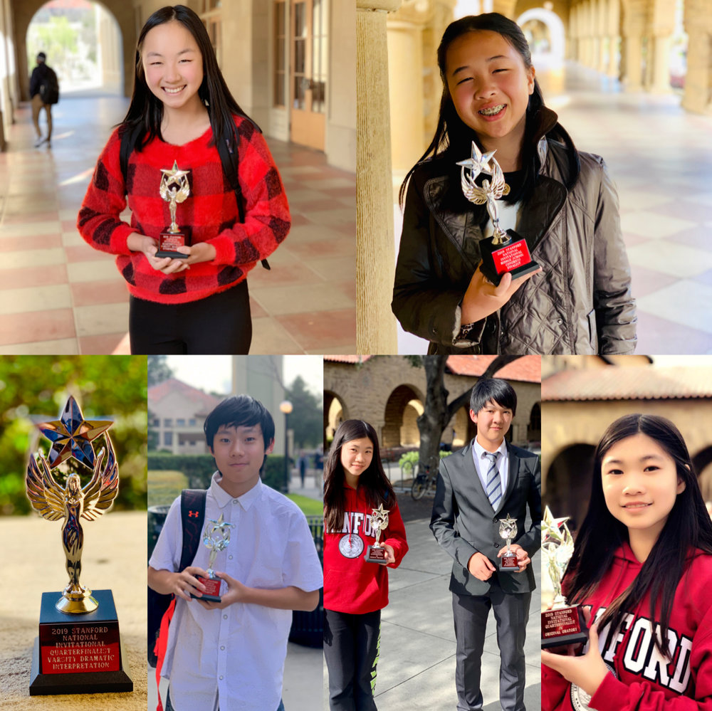 Middle school students win at stanford