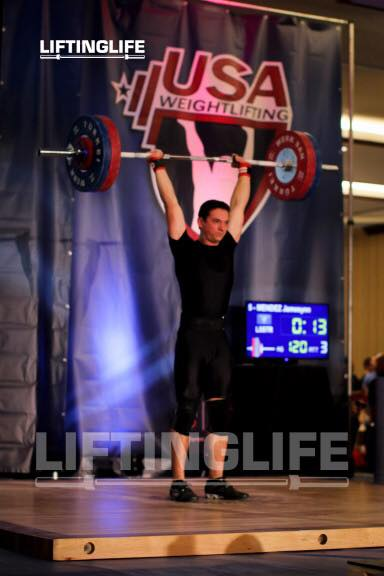 Jamesynn Mendez with 120kg on the bar
