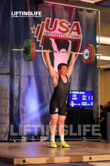Brady Wessel with 100kg on the bar