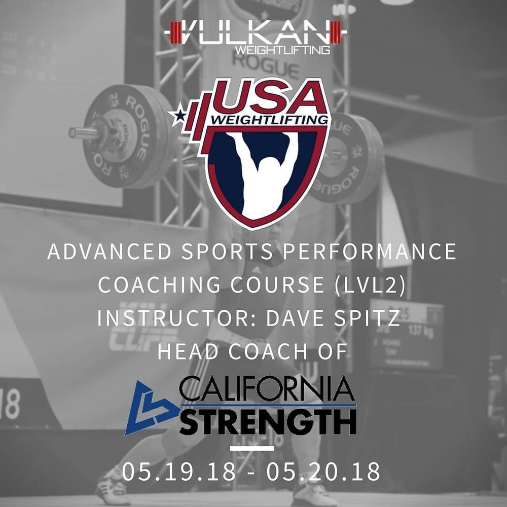 Usaw Level 2 Advanced Sports Performance Coach Certification