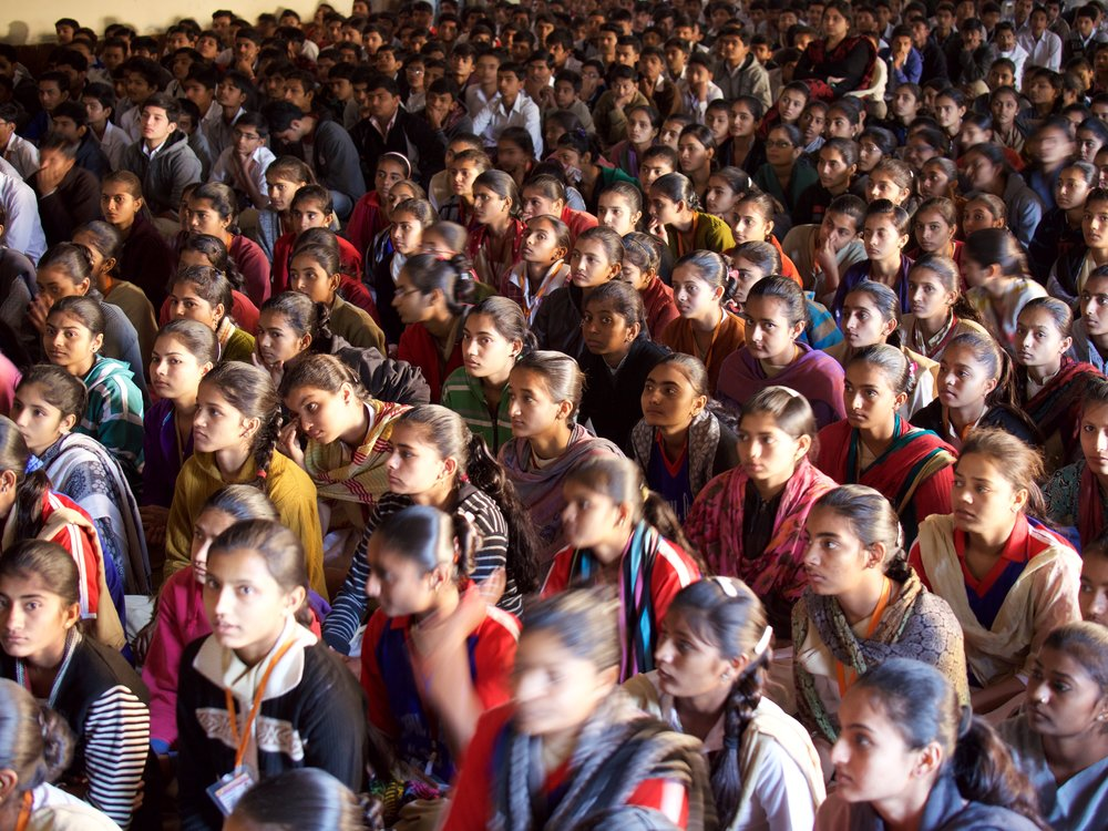 About 26.6 per cent of girls in the age group of 15-17 years in Gujarat have either dropped out or have never been to school.
