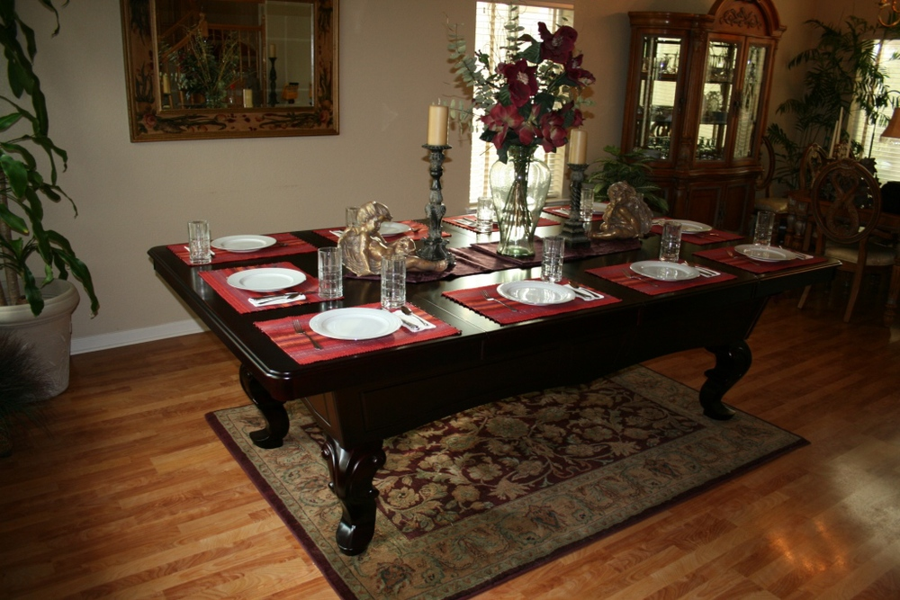 Pool Table Dining Top. Getting The Most Out Of Your Space Is No Longer  Easier Said Than Done!!