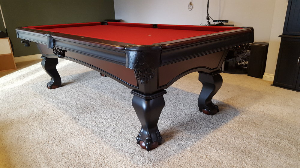 Got My Pool Table! I Got The King Herod With Burgundy Felt. Gorgeous! Fun  Times! Josh And Gary Were Awesome! The Installers Were Very Informative And  Nice.