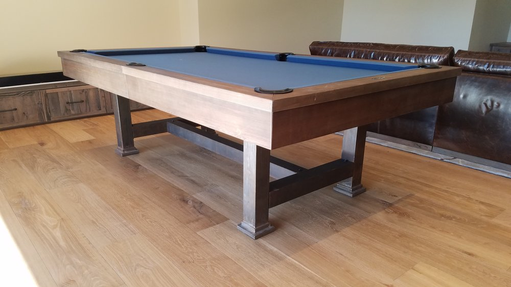John E Truckee CA Imagine That Pool Tables - Electric blue pool table