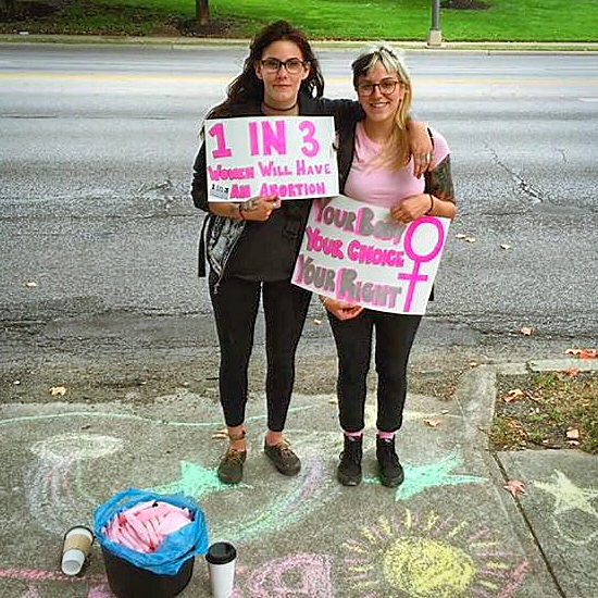 Local pro-choice activists came out on Saturday, August 26 to show support for the patients at Founder's Women's Health Center.