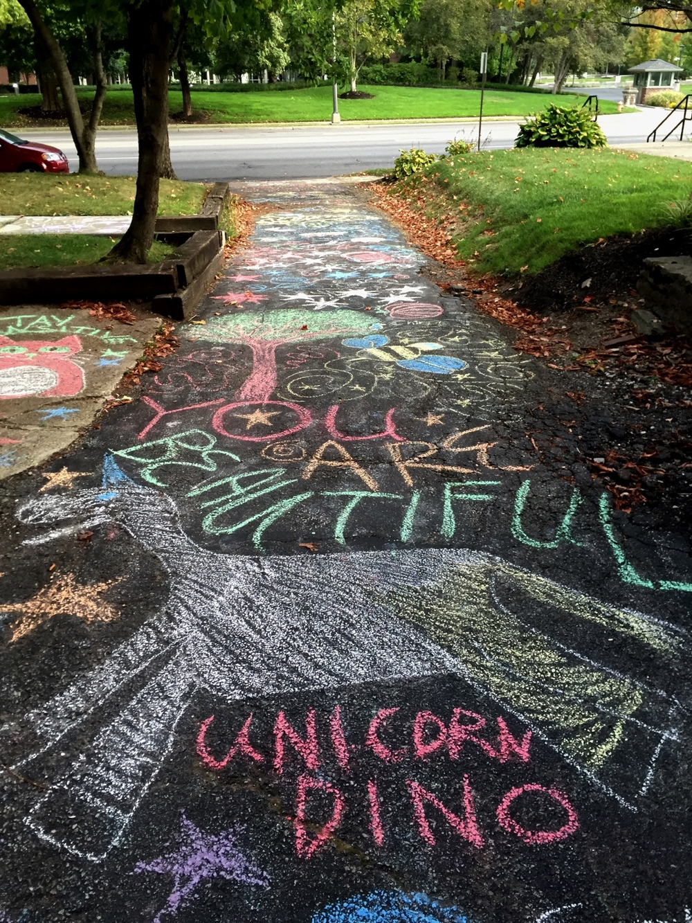 Affirmative artwork by pro-choice students and staff from OSU and Otterbein University on September 26, 2015.