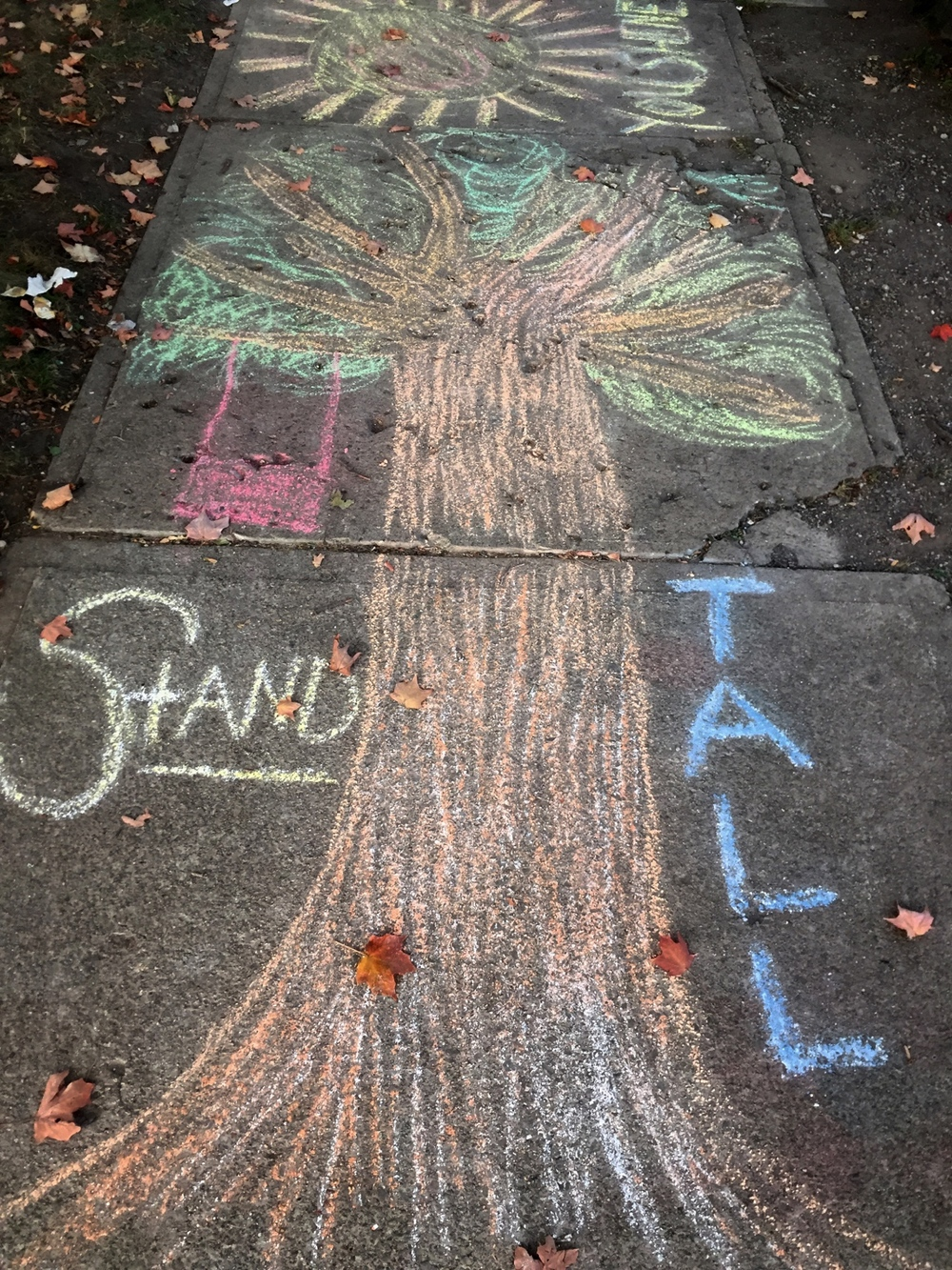 """Photo taken at the """"Pro-Choice Chalk The Walk Event"""" at Founder's Women's Health Center on September 26, 2015."""