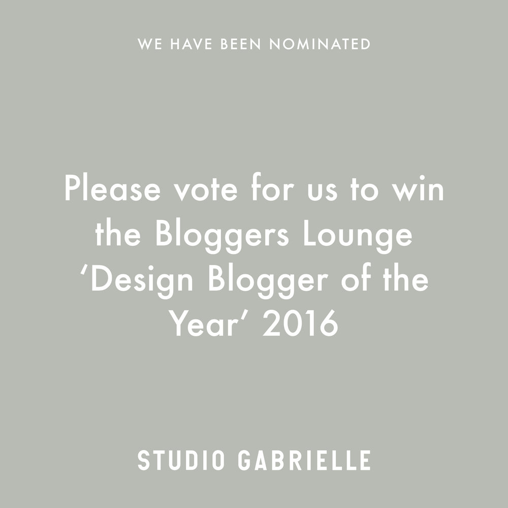 StudioGabrielle-WeHaveBeenNominated-Bloggers-Lounge-studiogabrielle.co.uk