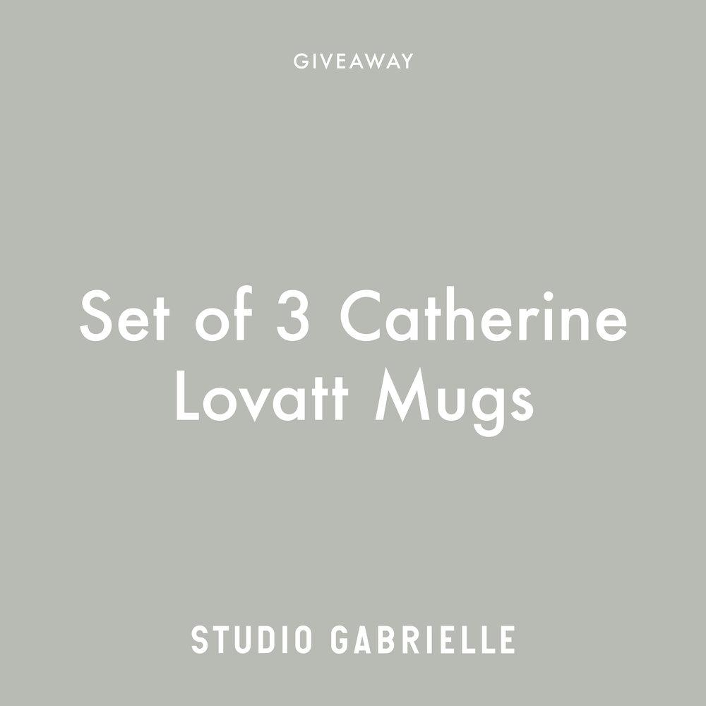 Catherine Lovatt Mugs Giveaway