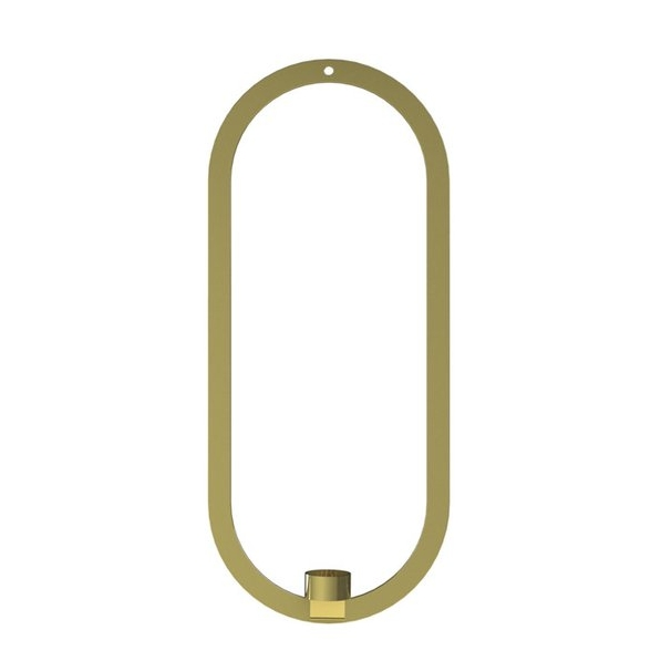 StudioGabrielle_Cooee Design - Oval Hanging Brass
