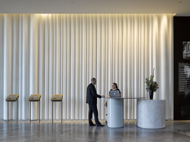 175 Eagle Street Lobby Refurbishment by Cox Architecture