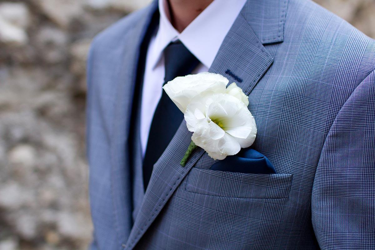 Grooms Flower, Suit, Bryllup, Brudgom