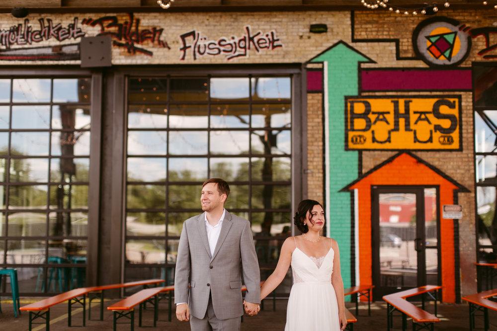 Bauhaus brew labs wedding dress