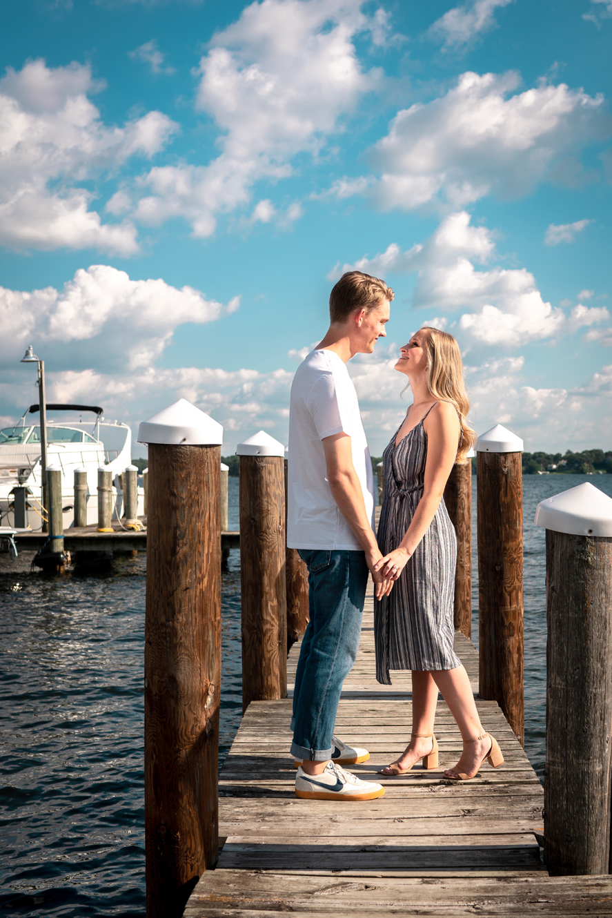 Excelsior, MN Outdoor Engagement Session | Photo by Andy Yelken | Rivets & Roses