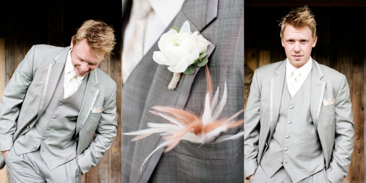 Wedding Groom Triptych