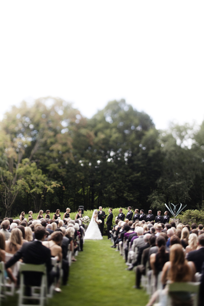 outdoor wedding ceramony