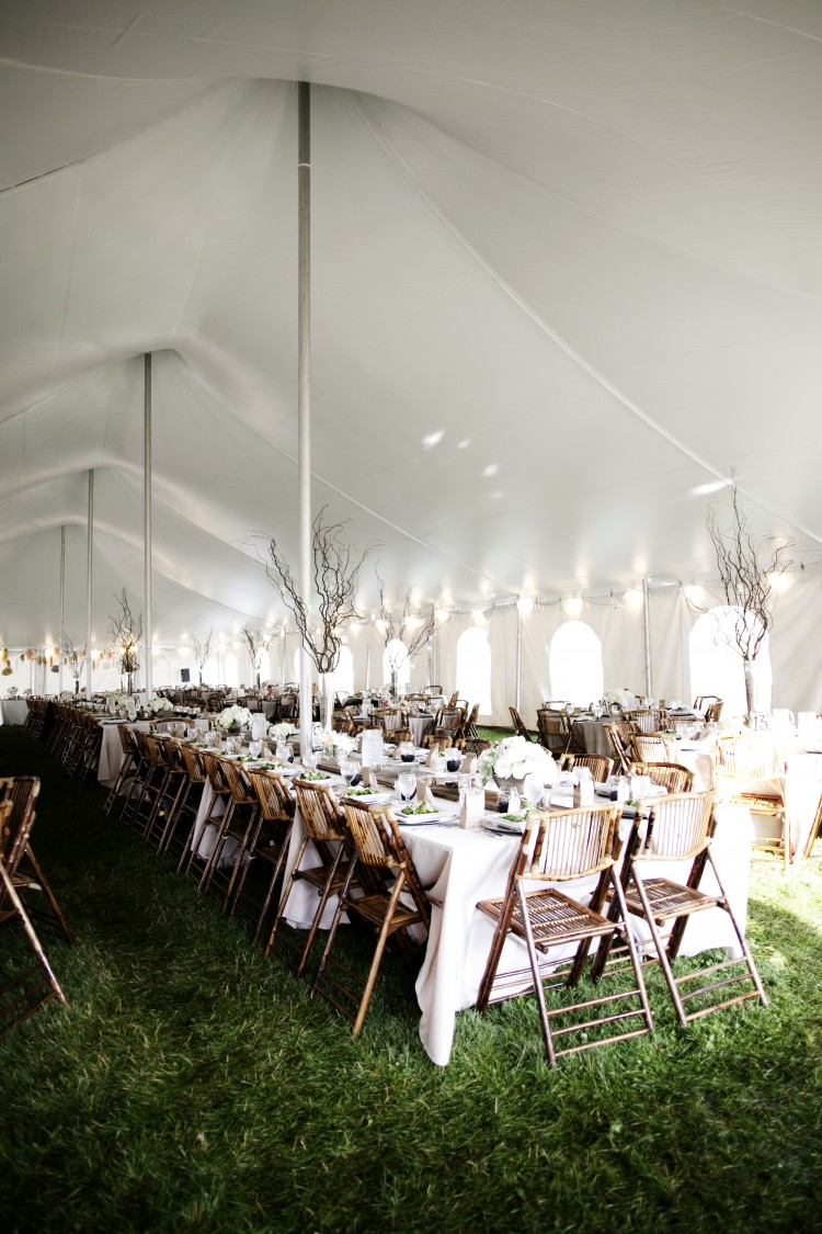 Beautiful Wedding Reception under a tent