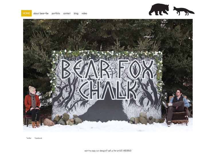 Bear Fox Chalk Website