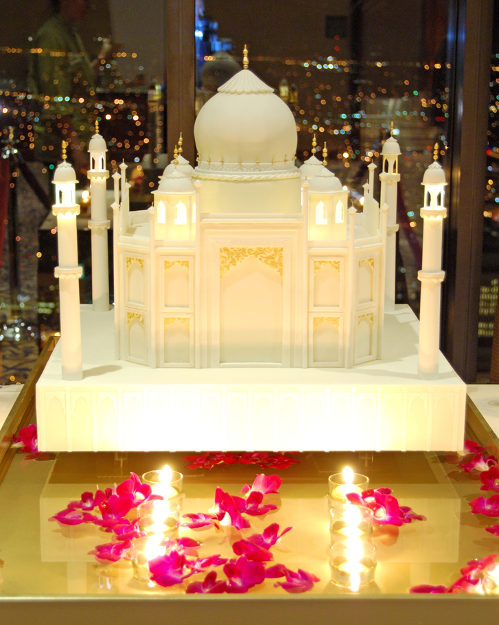 Gateaux Inc Taj Mahal themed wedding cake