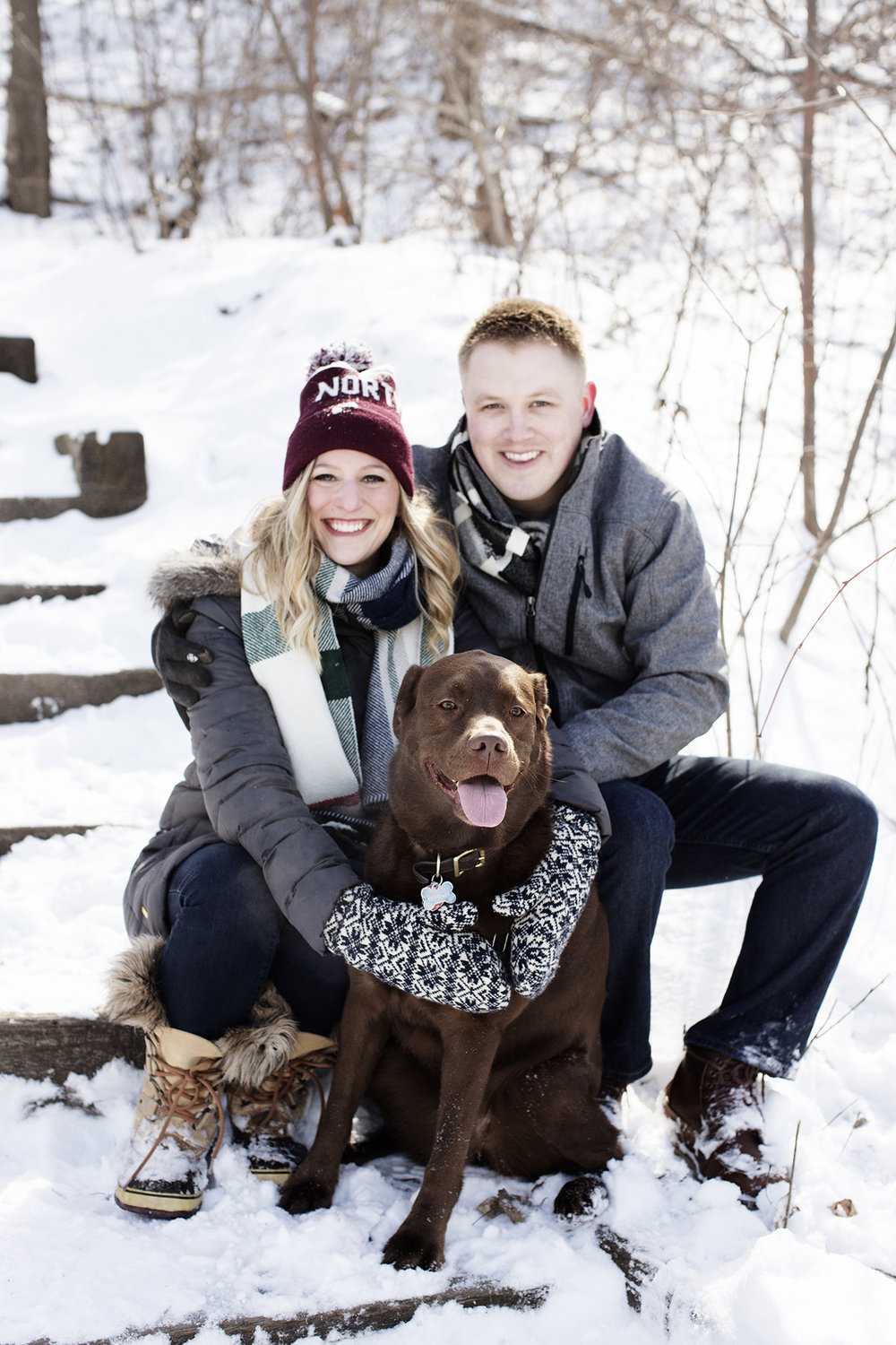 Winter Engagement Photos North Loop, Minneapolis | Photography by Photogen Inc. | Eliesa Johnson | Based in Minnesota
