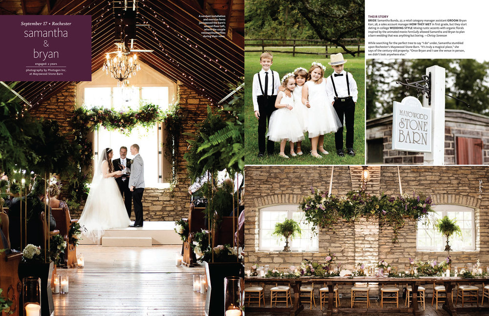 Mayowood Stone Barn Wedding Rochester, MN | Photos by Photogen Inc. | Eliesa Johnson | Based in Minneapolis, Minnesota