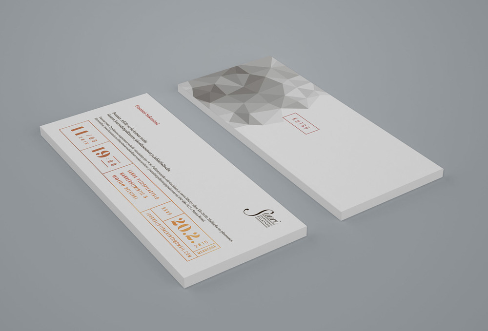 / for invitations we selected light grey stock combined with copper foil.