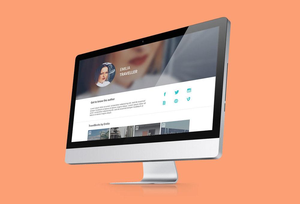 / author profile for desktop