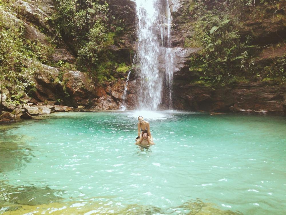 Cachoeira Santa Bárbara -Cavalcate, GO.
