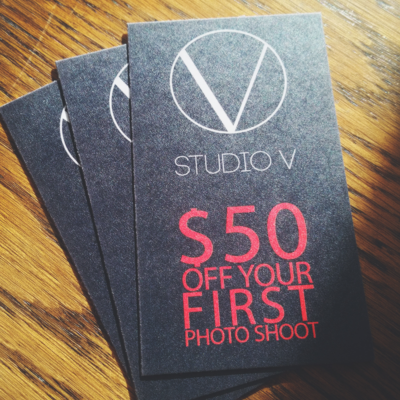 Studio V Photography Promotion
