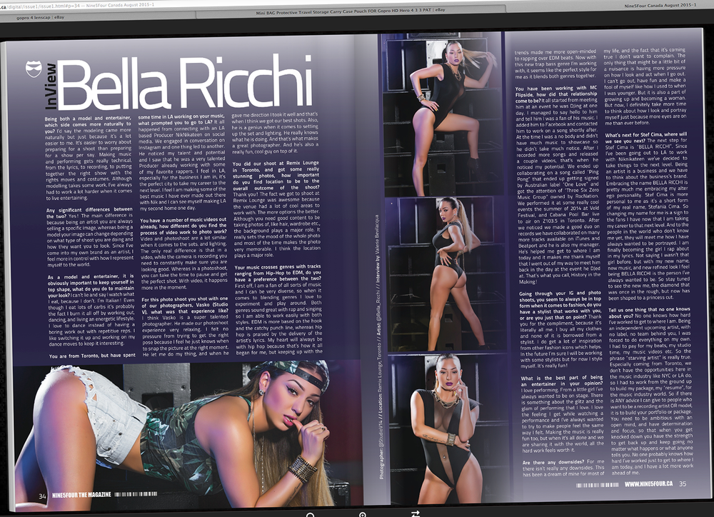 Studio V Photography Bella Ricchi publication Toronto