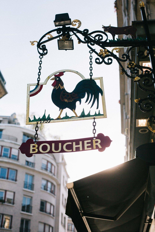 Charlotte Margot Photography Parisian streets butcher