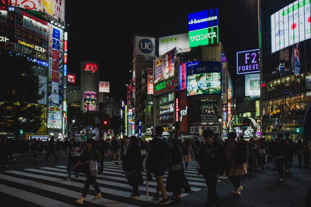 Shibuya Tokyo at Night