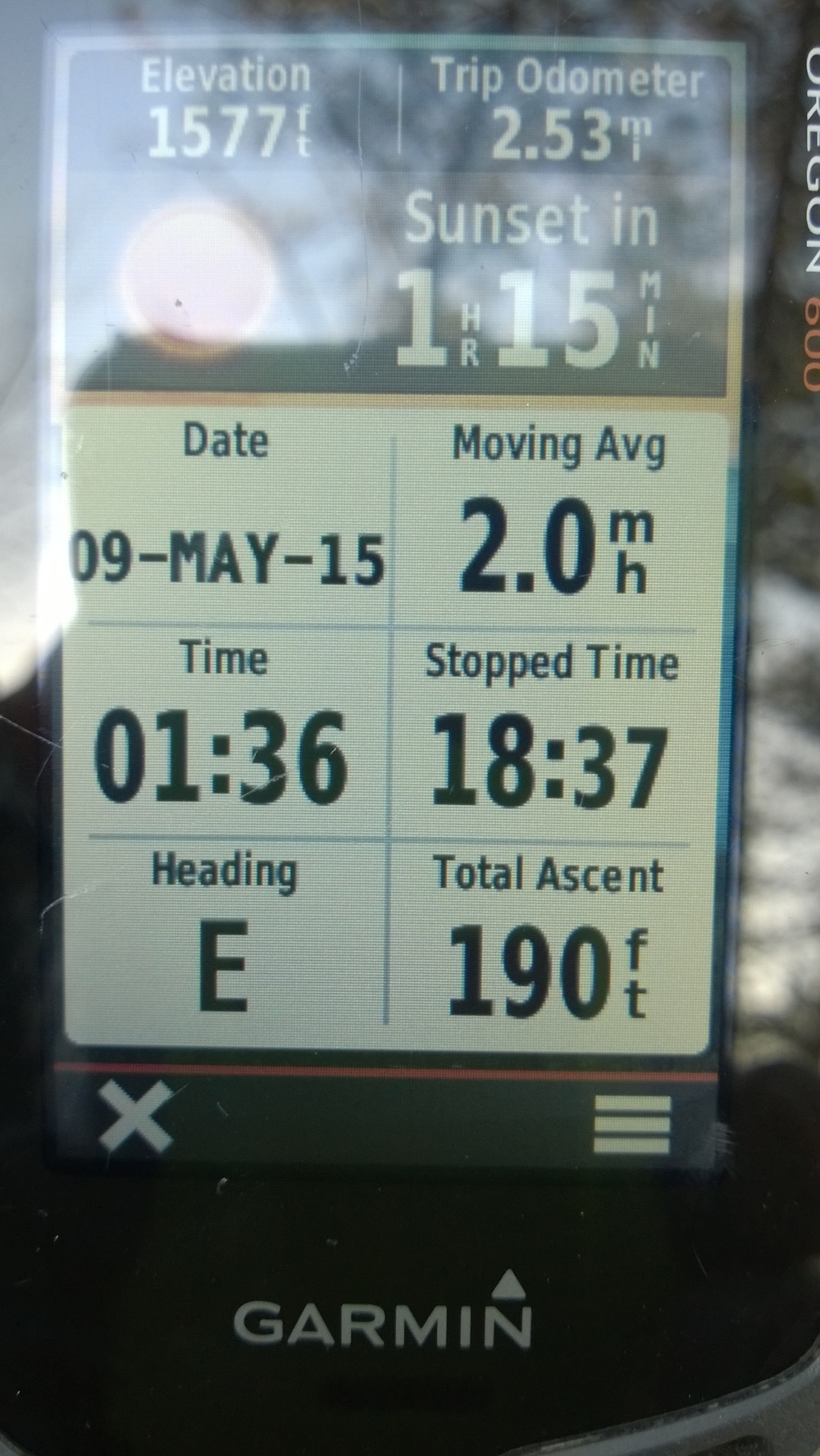#5 and #6 where about a 2.5 mile round trip.