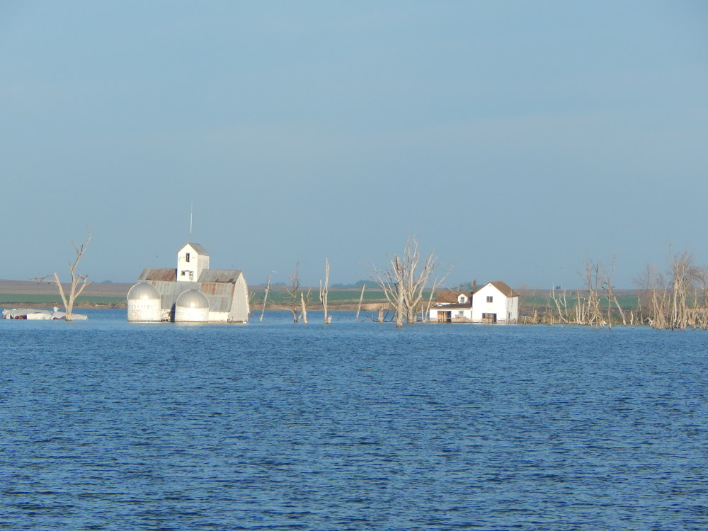 Flooded farm in the area.