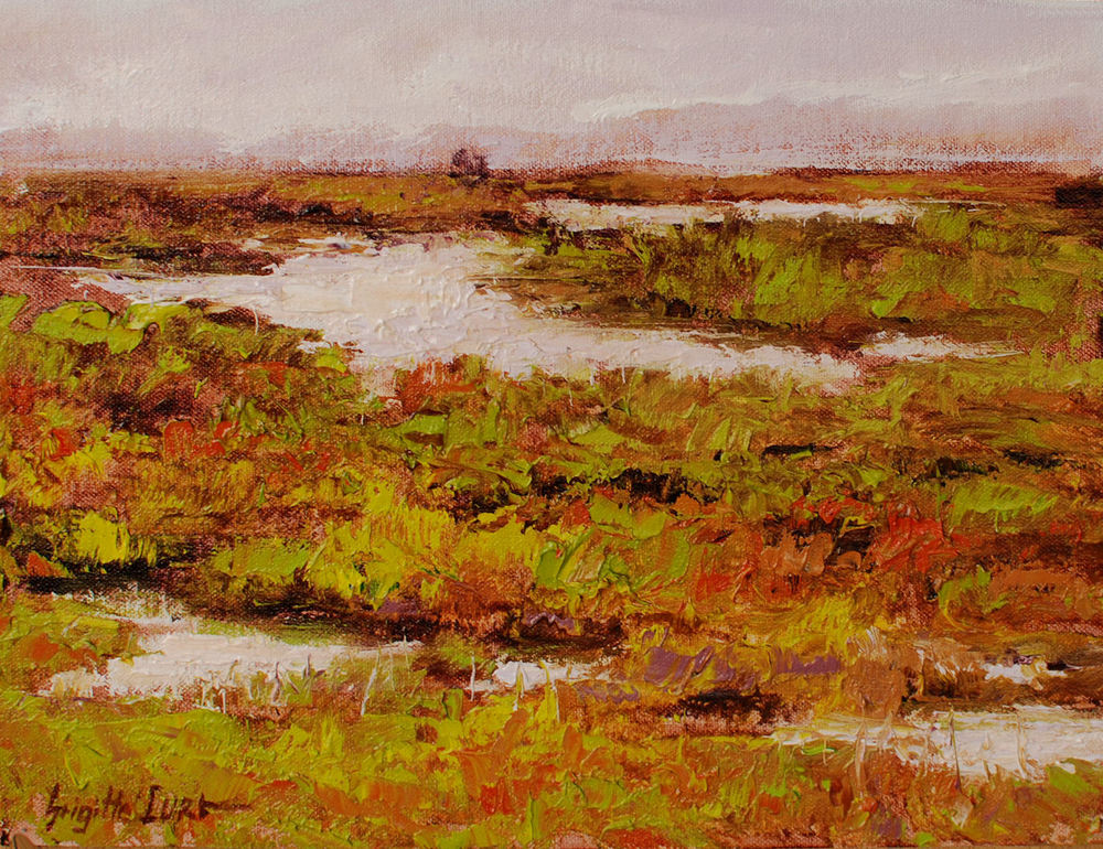 Pickleweeds at the Marshlands  9x12