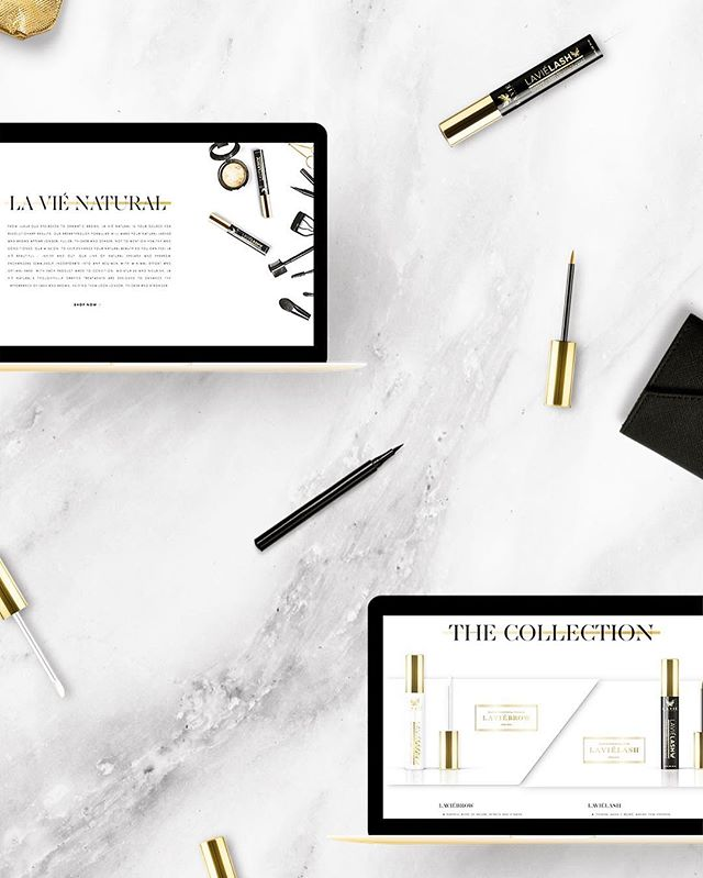 La Viè Natural Cosmetics //Brand Development, Packaging Design, & Website Development 😍 check out the full site design at shoplavienatural.com!