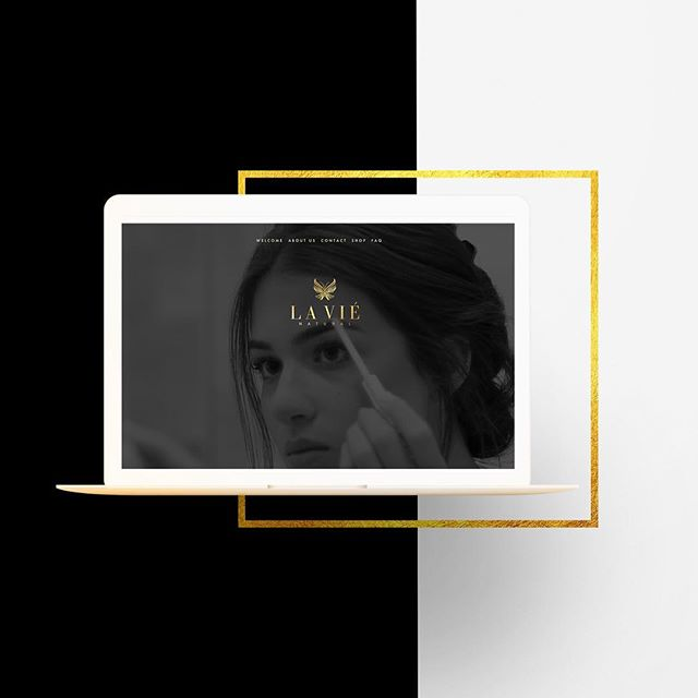 La Viè Natural Cosmetics //Brand Development, Packaging Design, & Website Development 😍 check out the full site design at shoplavienatural.com!  @dana_davi looking beautiful as always 😘
