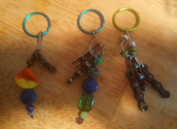 Colorful Beaded Keychains  $17 plus shipping. All made custom for orders. Please state color choice in special instructions during order.