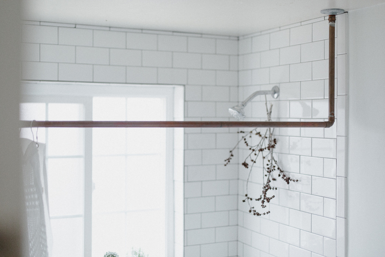 DIY Copper Pipe Shower Curtain Rod — OUR△GREENHAUS