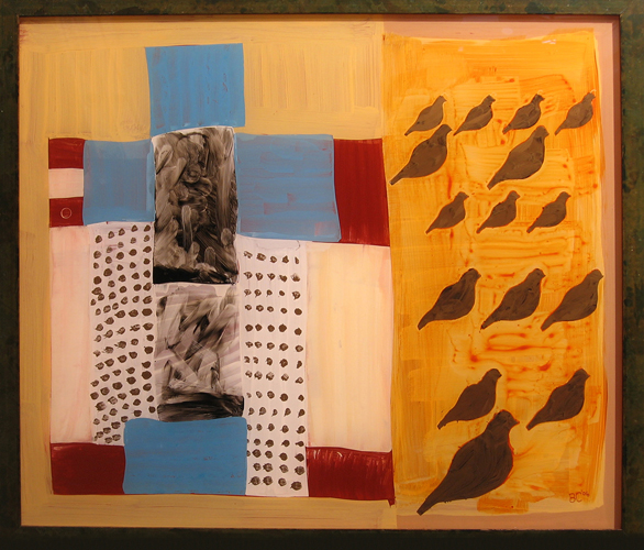 Counting Quilt, Acrylic on Plexiglass, Buffy Cribbs