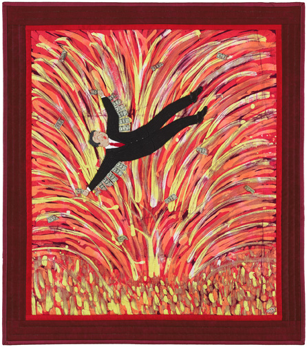 Meltdown, Art Quilt, Gale Whitney