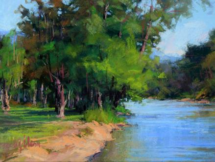 Down River, Susan Ogilvie, Pastel