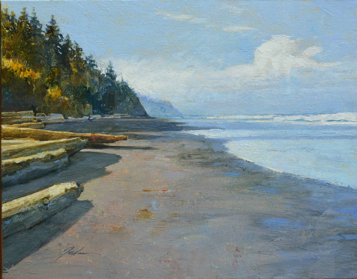 Beach Walk, Pete Jordan, Oil