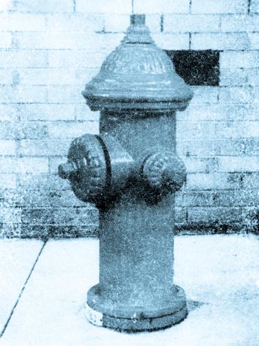 Hydrant 18, Cyanotype Photograph, Zoë Osenbach
