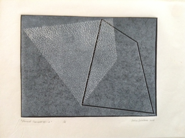 Formal Thought VI-b, Lino Print, Diane Divelbess