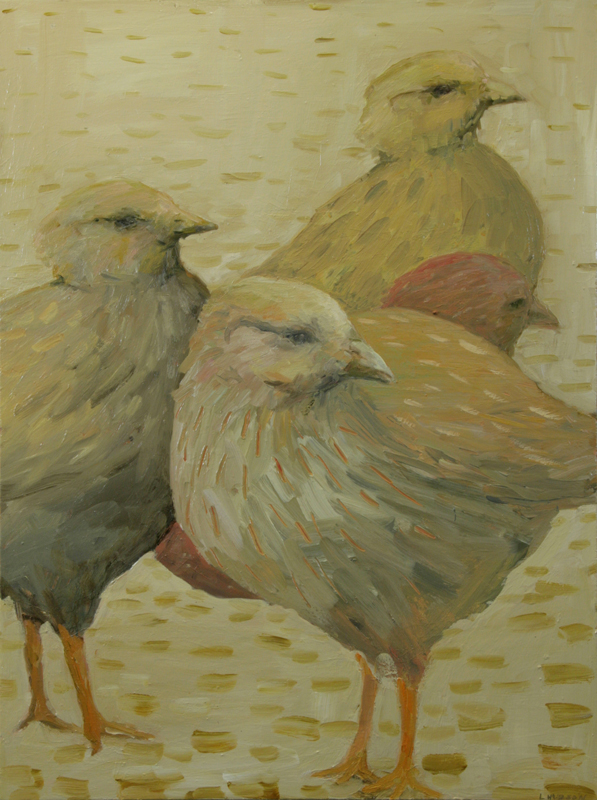 Pullets #1, Oil, Laura Hudson