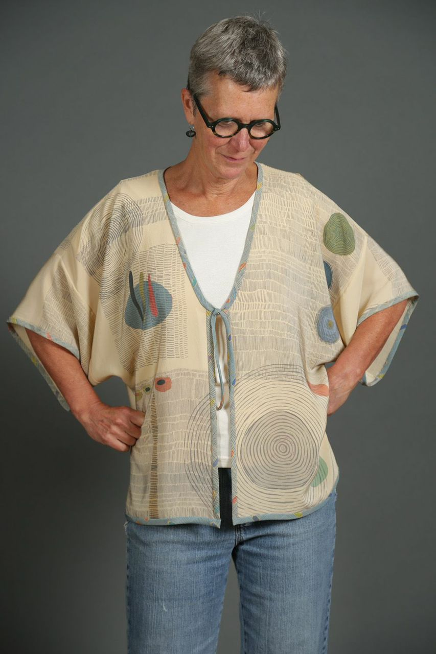 Silk Jacket, Designed and Printed by Peggy Juve