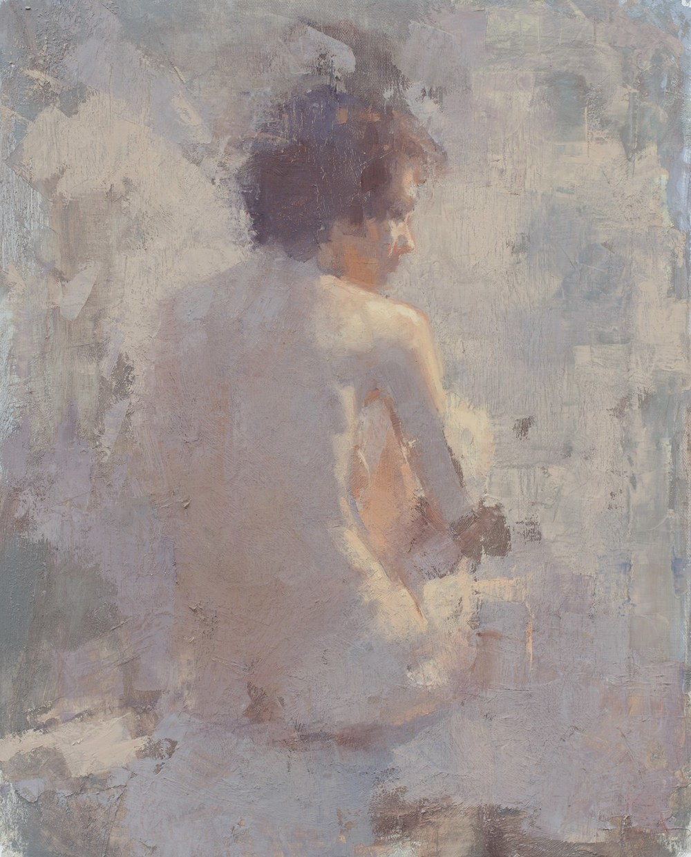 Aaron Coberly, Diffused Figure, oil, 16 x 20