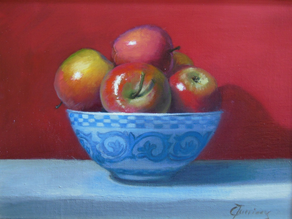 Apples on Red